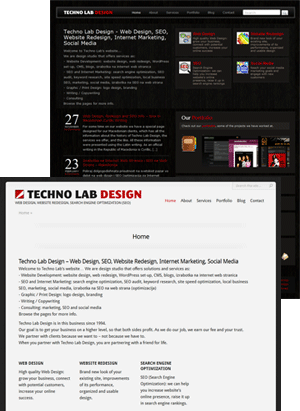 Redizajn na web stranica - Techno Lab Dizajn