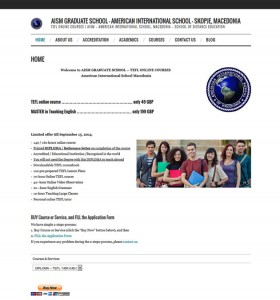 AISM Graduate School - Web Design, SEO, PayPal Payment System Implementation