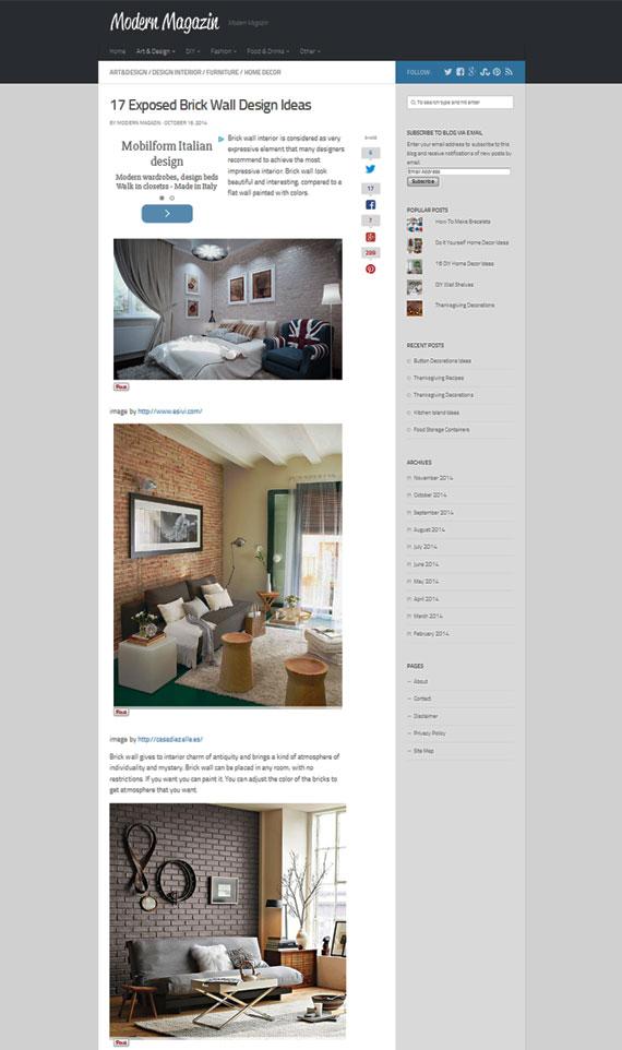Web Redesign and WordPress Blog Maintenance - Modern Magazin